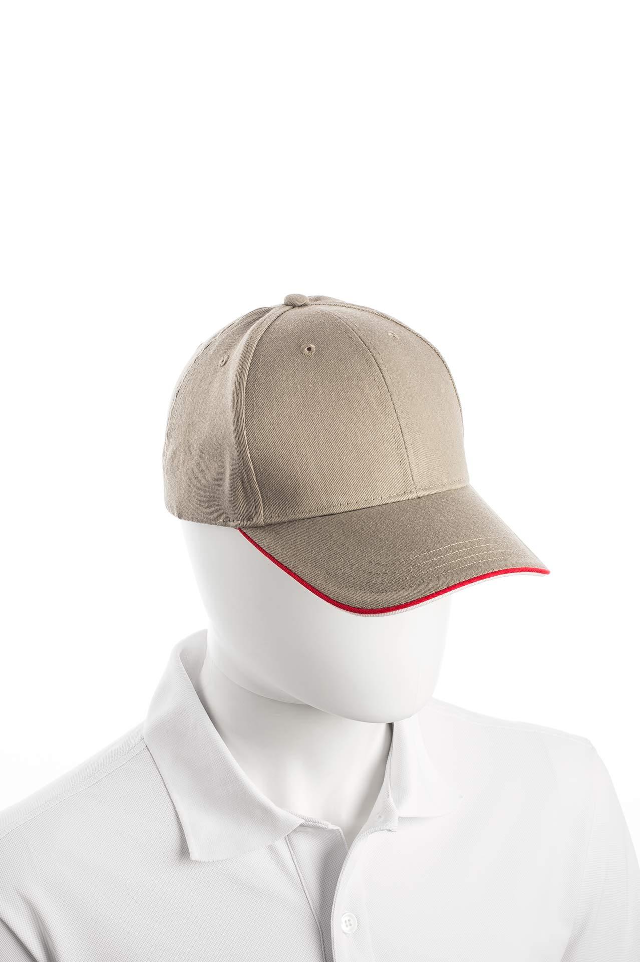 Cappellino unisex Uomo Donna Art. 3001 colore khaki - bordeaux